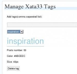 X33 Tag Manage