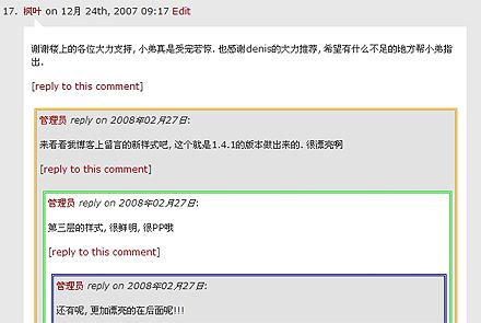Wordpress Thread Comment