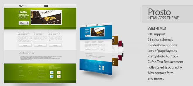 Prosto Business & Portfolio  HTML CSS Theme